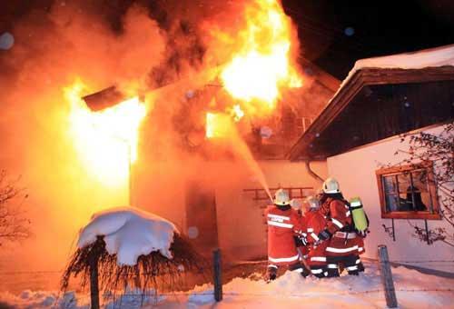 Brandeinsatz St. Martin Obsthurn am 15. Dezember 2010