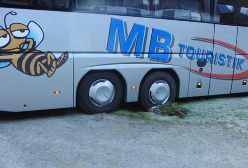 Bus Abschleppen Lofer am 22. Oktober 2010