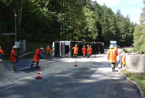 LKW-Unfall Pass Strub am 29. August 2011