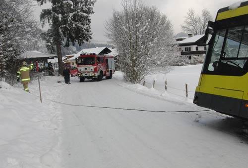 Busbergung Rauchenberg nähe Stegerbauer am 19. Dezember 2011