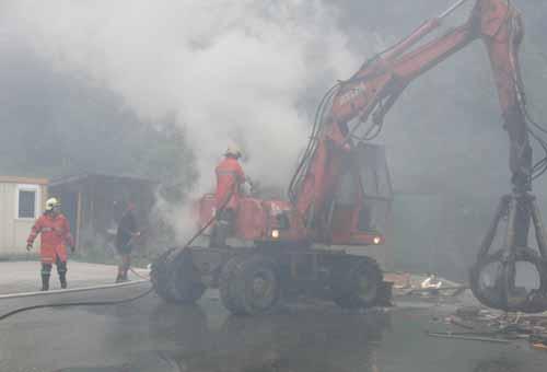 Brandeinsatz Recyclinghof am 20. Juni 2011