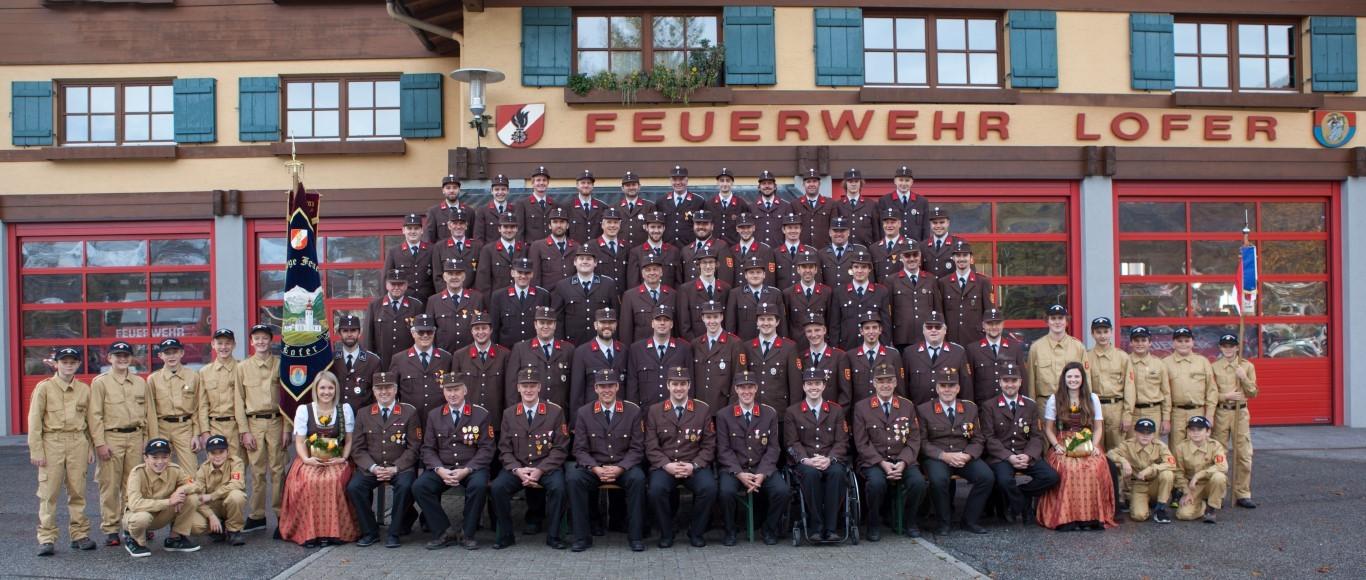 Mannschaftsfoto Freiwillige Feuerwehr Lofer