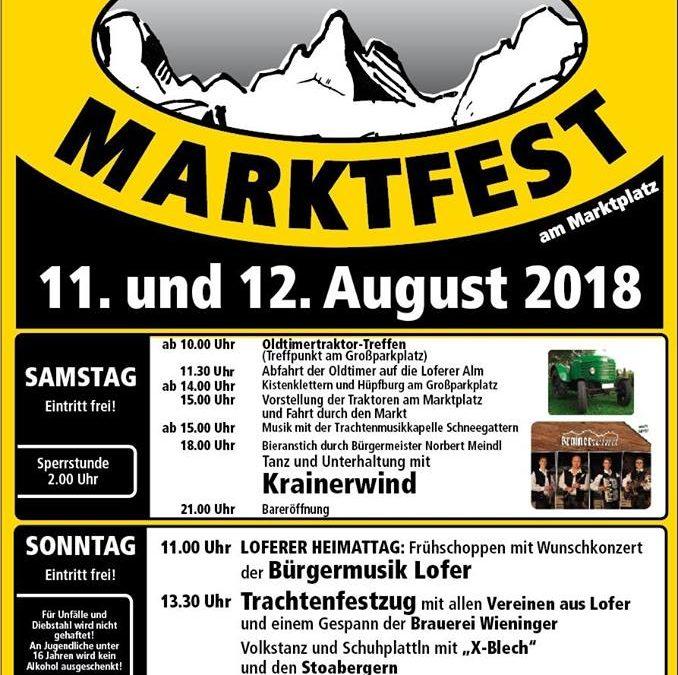 Loferer Marktfest, 11. und 12. August 2018