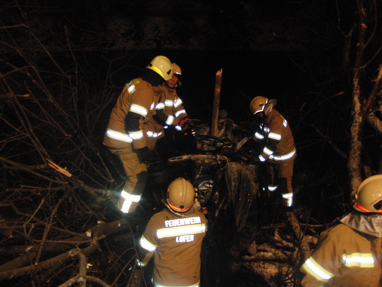 Verkehrsunfall Grenzgebiet Lofer und Unken, 18. Jänner 2013