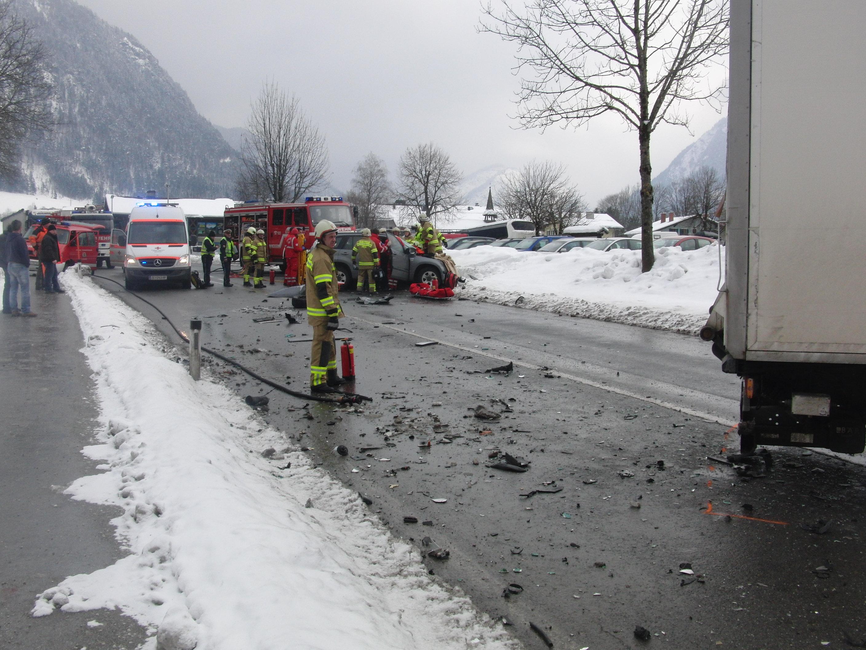 Verkehrsunfall Großparkplatz, 22. Februar 2013