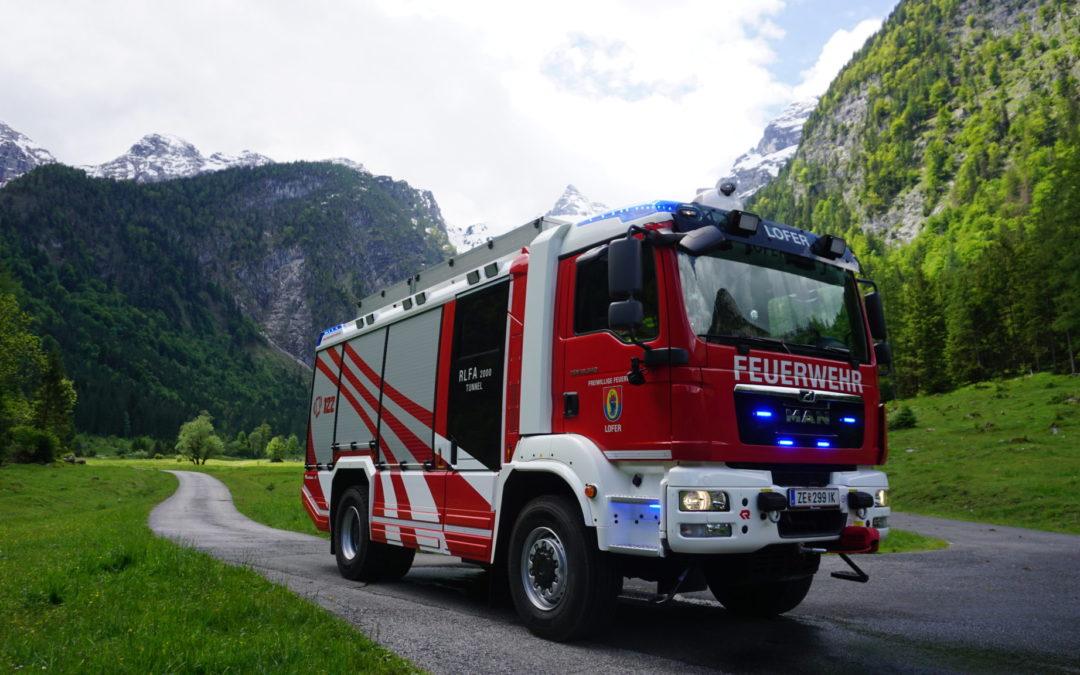 Neues RLF Tunnel für die Feuerwehr Lofer