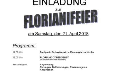 Florianifeier, 21.April 2018