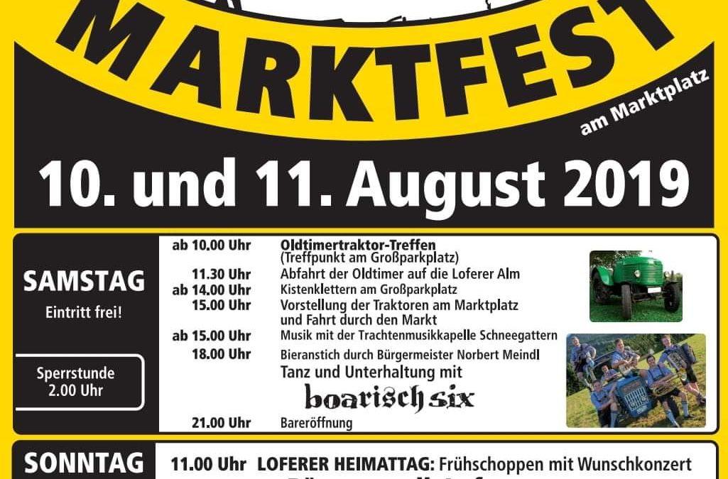 Marktfest Lofer und Oldtimertreffen, 10. und 11. August 2019