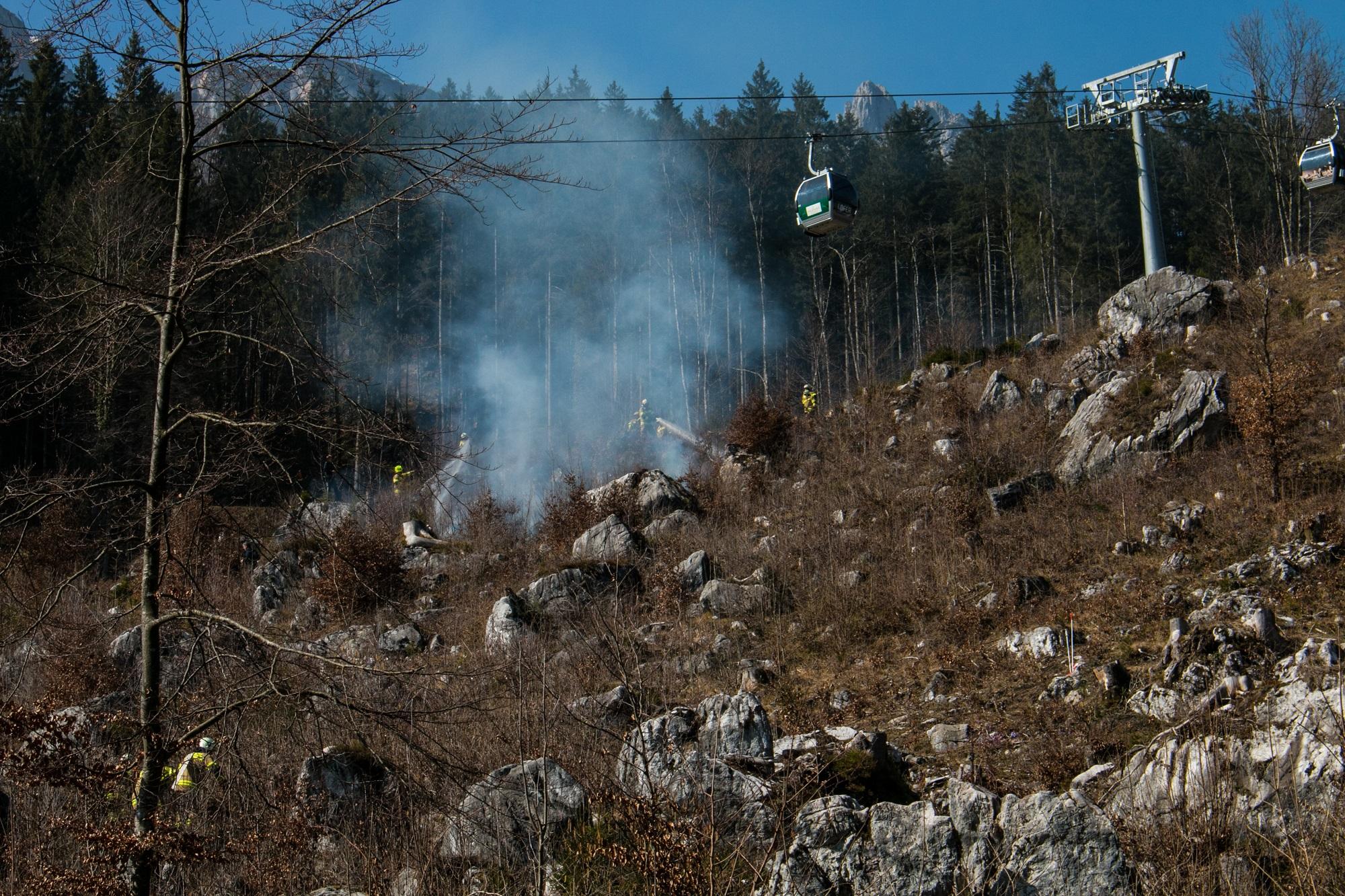 Flächenbrand Loferer Almenbahn I, am 14. März 2014