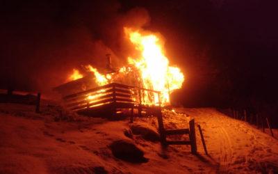 Brand einer Almhütte, am 22.12.2018