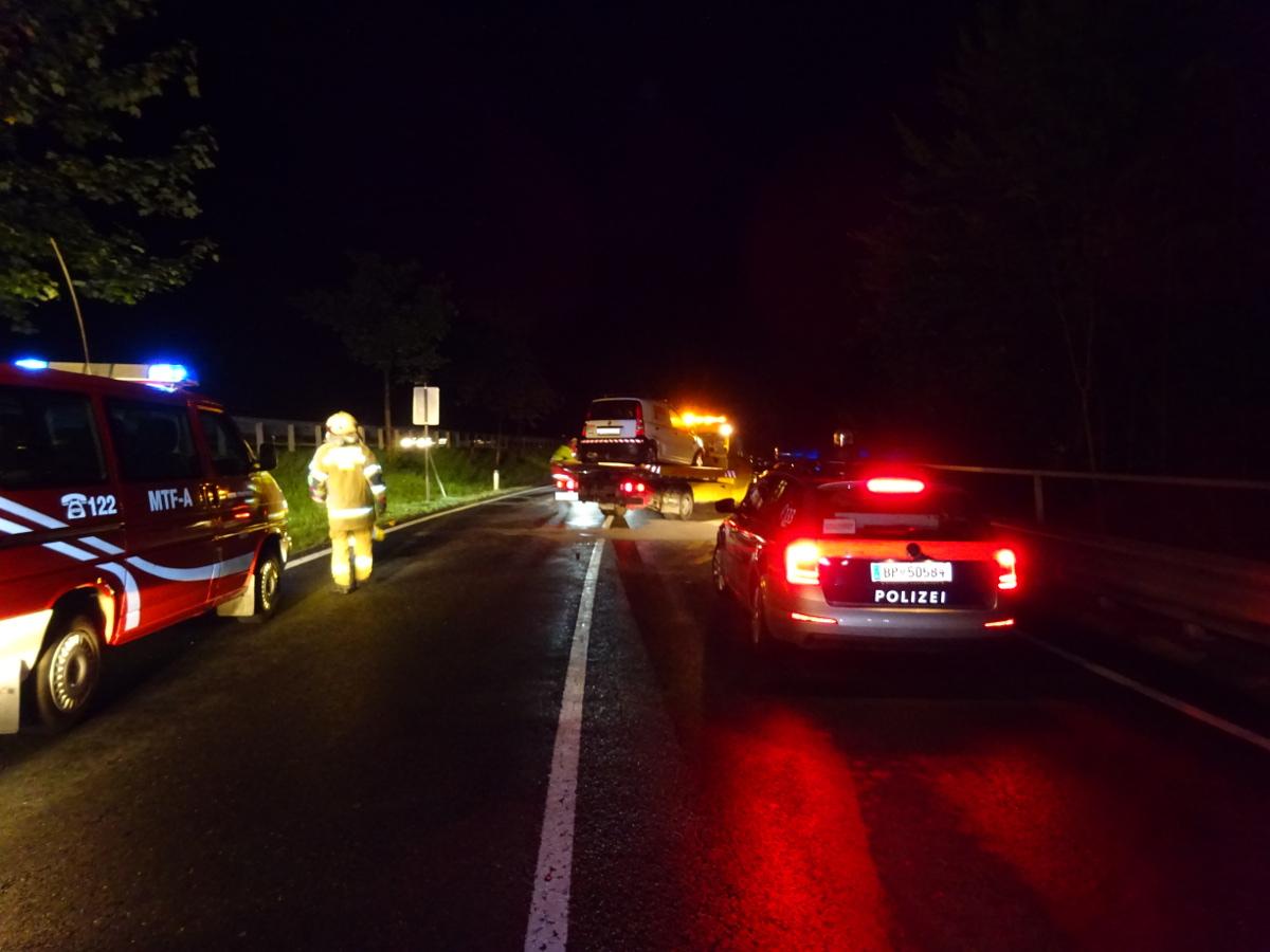 Verkehrsunfall B311, 03. September 2017