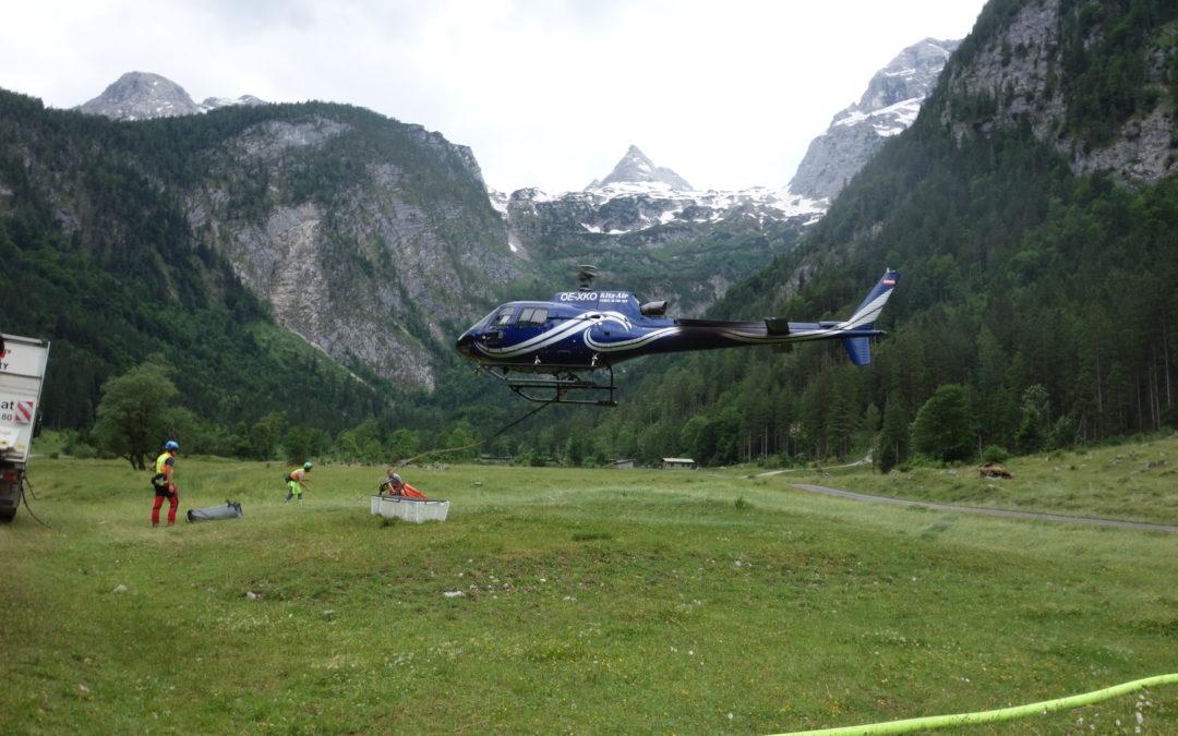 Wasserfliegen zur Schmidt-Zabirow-Hütte, 19. Juni 2019