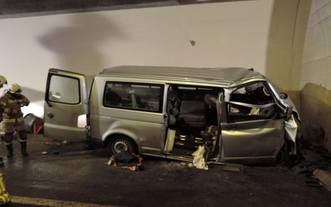 Schwerer Verkehrsunfall im Achbergtunnel, 27. Oktober 2017