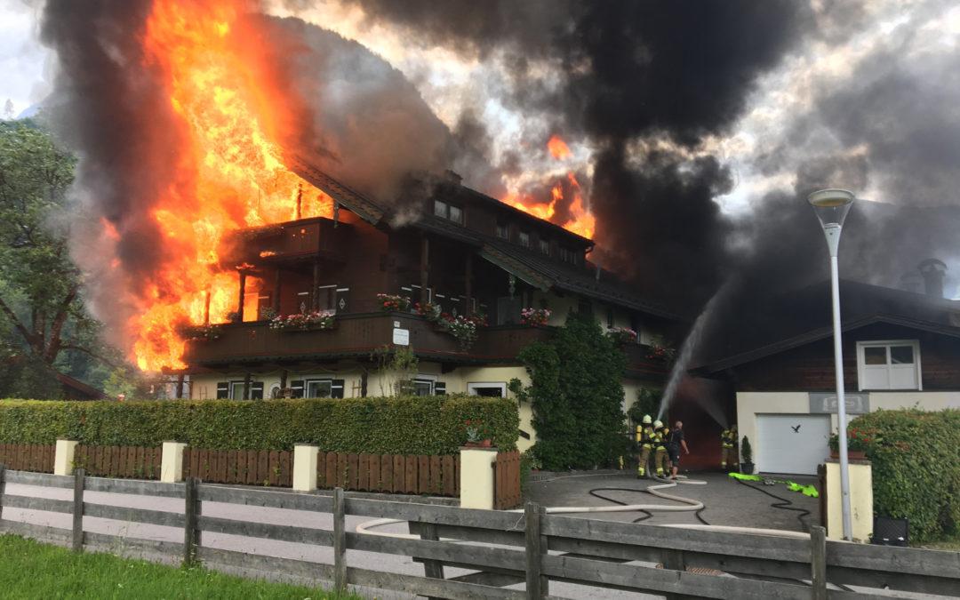 Großbrand St. Martin bei Lofer, 02. Juli 2018
