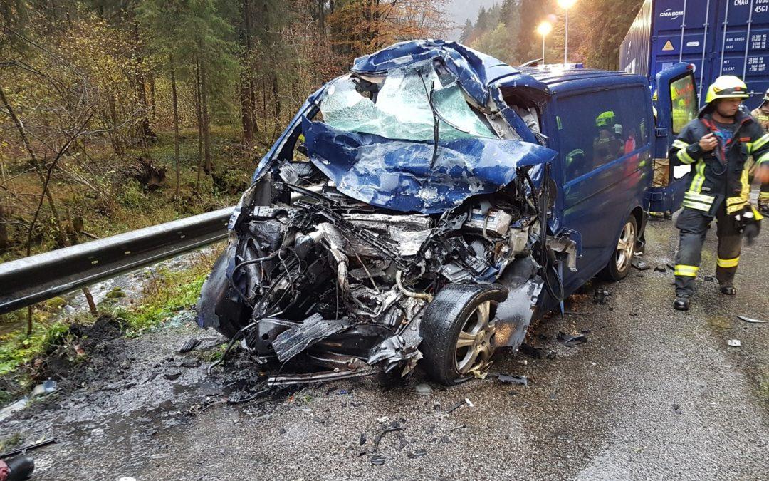 Verkehrsunfall Schneizlreuth, 24. Oktober 2018