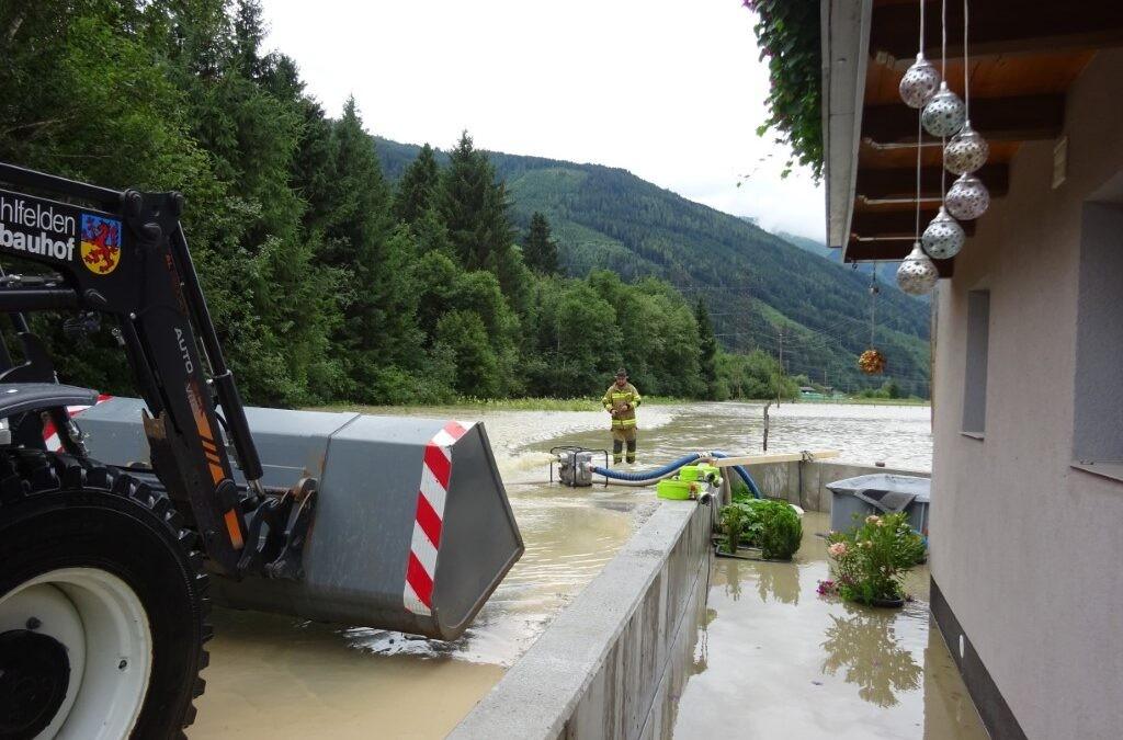 Hochwassereinsatz Stuhlfelden am 18.07.2021