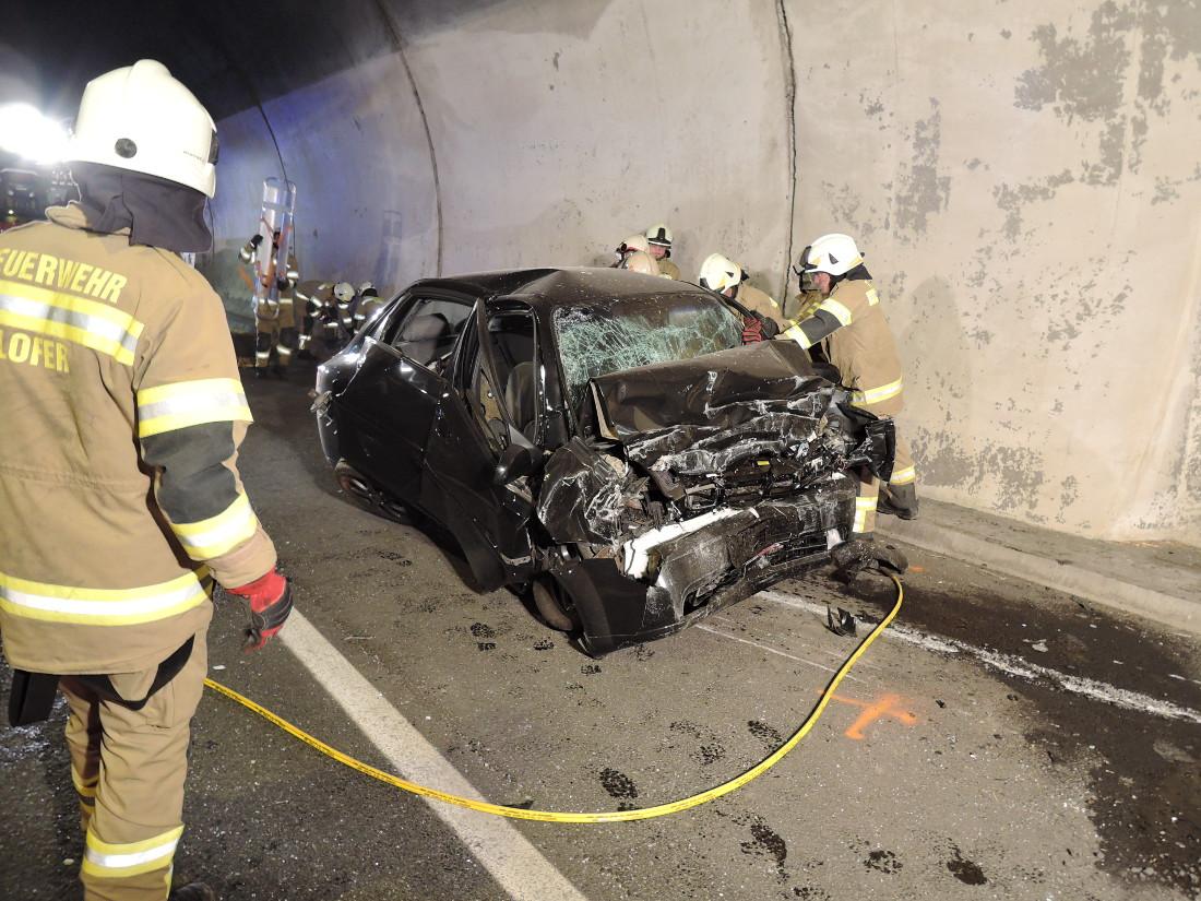 Verkehrsunfall Lärchbergtunnel, 01. September 2015