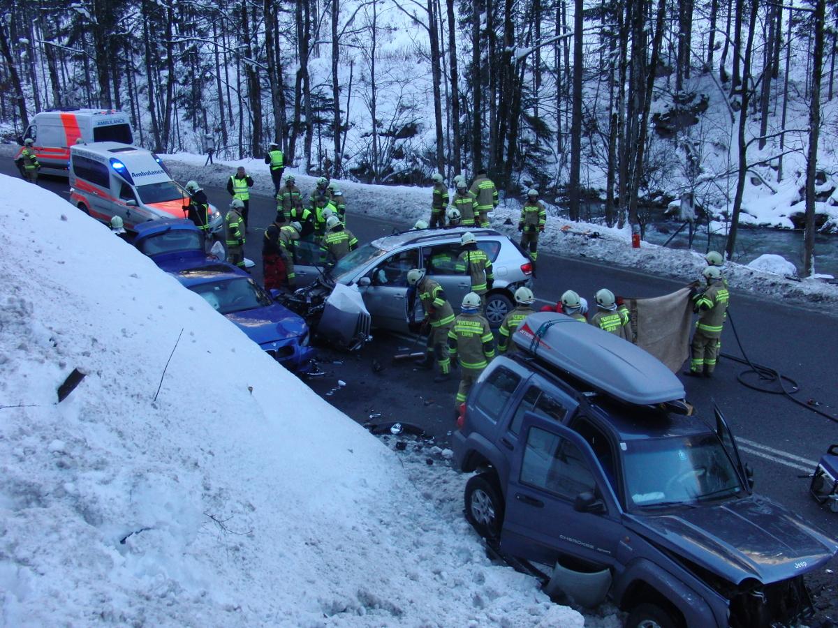 Verkehrsunfall Pass Strub, 7. Februar 2015