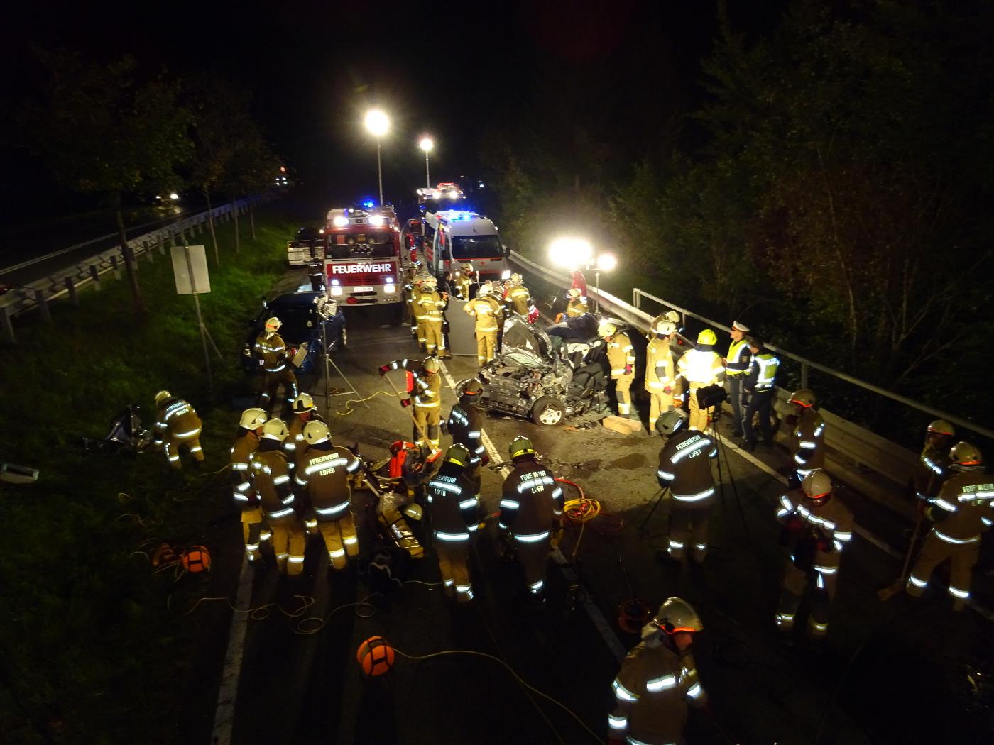Verkehrsunfall B311, 15. September 2017